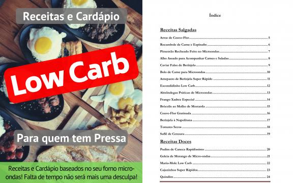 Livro de Receitas Low Carb para Microondas-01